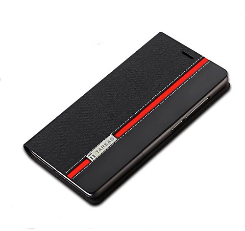 Tarkan Moto E3 Power Flip Cover: Leather Back Stand Case with Card Slot For Moto E 3rd Generation