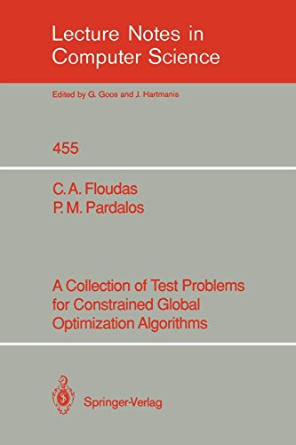 A Collection of Test Problems for Constrained Global Optimization Algorithms par Christodoulos Floudas