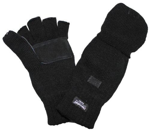 MFH Handschuhe Strick Ohne Finger Zugleich Fausthandschuh, schwarz, M