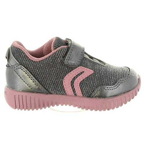 sports shoes f6048 6ee11 Geox B Waviness B, Scarpe da Ginnastica Basse Bambina, Grigio (Dk Grey C9002