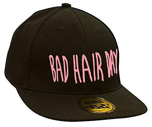 Baseball Mütze Cap Caps WOLF BAD SWAG schwarz Snapback with Adjustable Strap BOSS LA BOY (black pink)