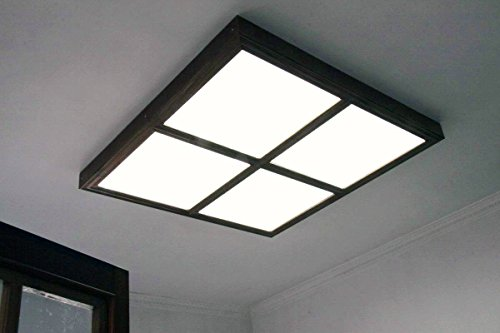 Plafoniera Led Quadrata 60x60 : Illuminazione led panel ultrasottile w bianco naturale da