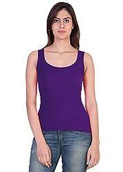 Tank Top Vest Camisole Sando Sllim Fit for Women Girls Blue Color Medium Size