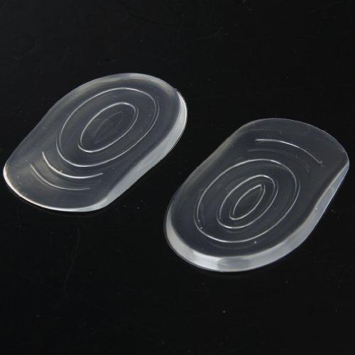 Footful 1 Paire Talonnettes Demi-Semelles Coussinets de Talon en Gel Silicone Pour Chaussures à Talons Hauts