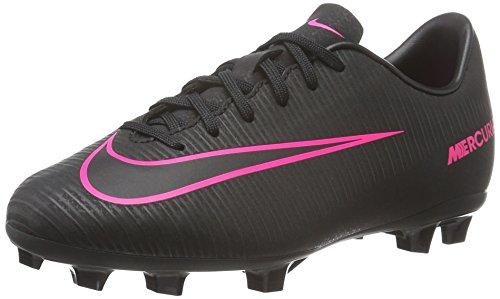 Nike Jr Mercurial Vapor Xi Fg - Chaussures de Rugby - Garçon Noir (Noir/Noir/Rose)