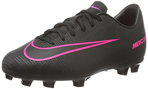 Nike Jr Mercurial Vapor XI FG, Unisex-Kinder Fußballschuhe, Schwarz (Schwarz/Schwarz/Pink), 37.5 EU (4.5 UK) (Fußball Schuhe Jungen Nike)