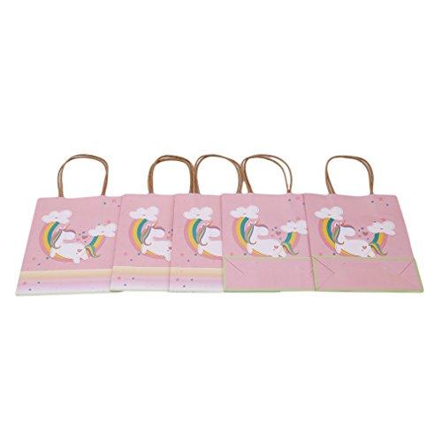 (kemai Einhorn Papier Geschenktüten Einhorn Geschenktüte Cartoon Süßigkeiten Papiertüten Partytüten für Geburtstag, Hochzeit, Babyparty, Feier Party)