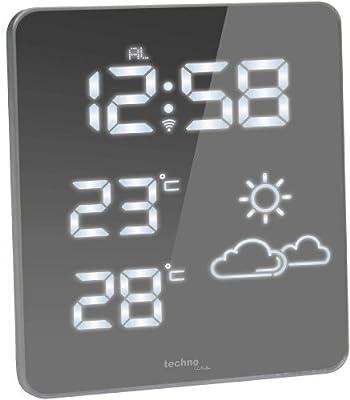 Technoline Premium Wetterstation WS 6825, Weiß, 2-teilig bestehend aus Station und Sensor von Technoline bei Du und dein Garten