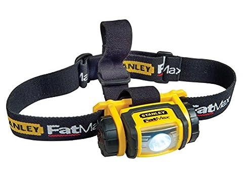 Stanley FatMax Kopflampe (80 lm Weißlicht, schlagfestes Gehäuse, bruchsicheres Kunststoffglas,