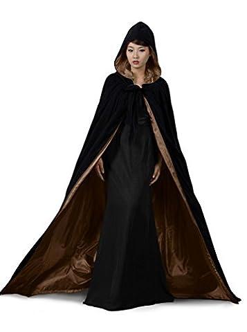 dressvip mittelalter Umhang mit Kapuze für Herren Damen Kind Kundengröße