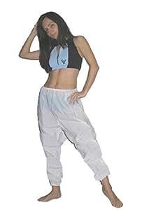 PANTALON DE SUDATION -Blanc, Taille 3 (France 46-48)- Pantalon de Sudation Effet Sauna en PVC, Vêtement Minceur - UNISEXE