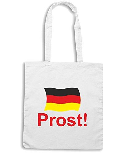 T-Shirtshock - Borsa Shopping BEER0066 german prost cheers white tshirt Bianco