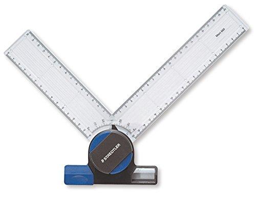 Staedtler ACCESORIOS PARA TABLEROS DE DIBUJO 661, tecnígrafo Variomátic para tablero, tecla de bloqueo y movimiento, fijación de la regla. 660 20