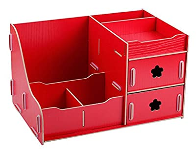 Wooden Desk Organiser Makeup Storage Display Jewelry Cosmetic Beauty Box
