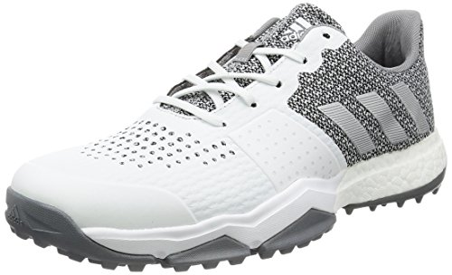 adidas adipower Sport Boost 3Golf Schuhe, Herren, mehrfarbig (blanco/plata/gris), 44 2/3 EU (10 UK)