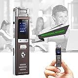 pretty-H Mini Recorder Digital-Voice-Recorder Mit Automatische Speicherung Beim Ausschalten, Zeitgesteuerte Aufnahme, Einschalt Passwortfunktion Support-Speicherkarte USB-Flash-Laufwerk