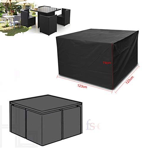 Vinteky Housse imperméable pour salon de jardin; table ronde ou carrée Square-123*123*74cm