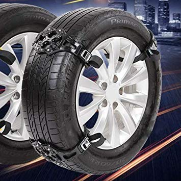 Uniqus 6PCS Car Snow Tire Anti-Skid Chains for Family Car(Black)