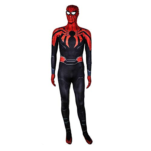 YXRL 3D Kind Spider-Man Strumpfhosen Digitaldruck Polyester Dress Up Zentai Realistische Comics Halloween Cosplay Kostüm Black-XXXL