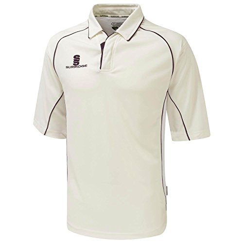 Surridge Premier Shirt 3/4 Arm White/ Green trim