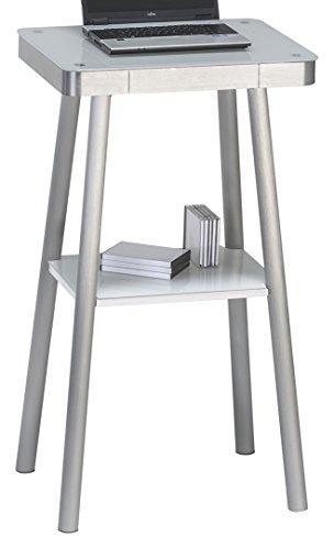 Maja Möbel 5010 9446 Stehpult, Metall/weißglas, 65,20 x 116,50 x 50,20 cm