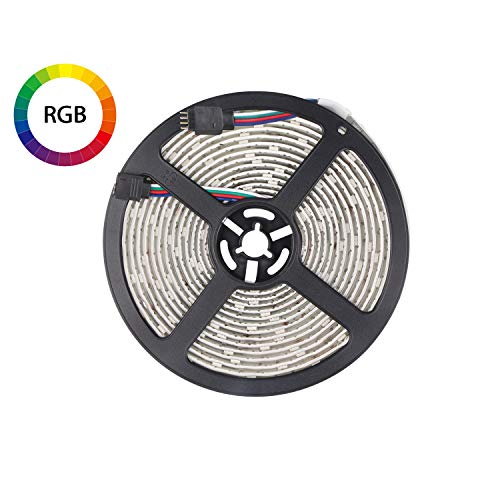 Amazon.de - RGB LED Strip Waterproof 5m 150leds, 12V DC, Remote Controller and Power Supply