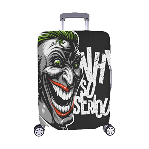 ((Nur abdecken) Böser unheimlicher Clown Monster Pattern Spandex-Staubschutz Trolley Protector case-Koffer Reisegepäck-Schutzkoffer-Abdeckung 28,5 X 20,5 Zoll)