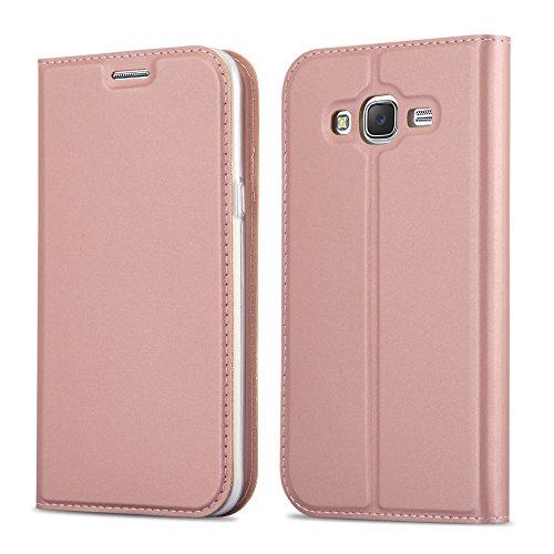 Cadorabo Funda Libro para Samsung Galaxy Grand Prime en Classy Oro Rosa - Cubierta Proteccíon con Cierre Magnético, Tarjetero y Función de Suporte - Etui Case Cover Carcasa