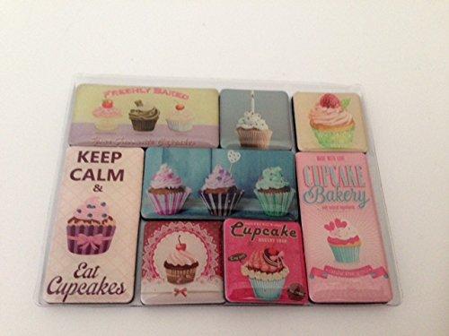Set di magneti da frigorifero in confezione regalo, motivo Cupcakes, collezione 2015