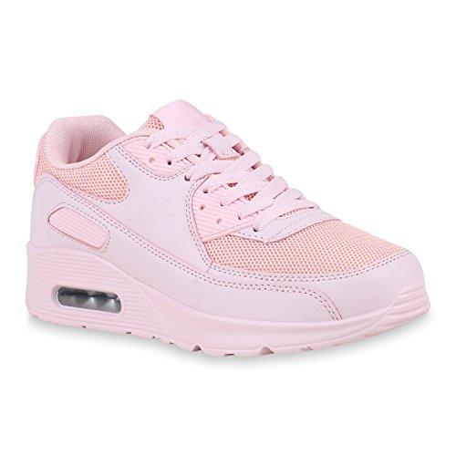 Damen Schuhe Sportschuhe Camouflage Runners Laufschuhe Sneakers 155172 Rosa Peach 38 Flandell