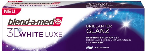 Blend-a-med 3D White Luxe Brillanter Glanz Zahncreme, 2er Pack (2 x 75 ml)
