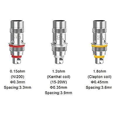 DIY-24H - Aspire 5er Pack Triton mini Verdampferköpfe Clapton, Kanthal, Ni200 Coils Head von DIY-24H