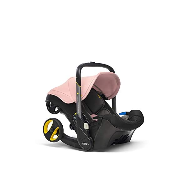 Doona Car Seat and Pram, Blush Pink, Revolutionary 0+ Car Seat that Folds Between Car Seat & Pram in Seconds, ISOFIX Base Available. Car Seat H60cm x W44cm, Pram H99cm x 82cm. Perfect for Travelling Doona  5