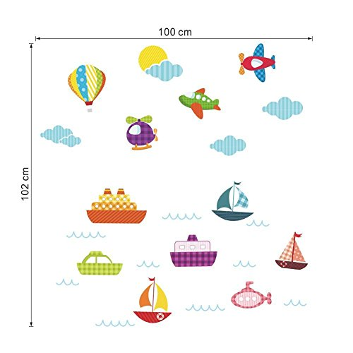 CDELEC 1PC Dekoration Kreatives Zuhause Spielzeug Kinder Flugzeug Luft Ballon Diy Kind Spielzeug Geschenk Kindergarten Wanddekoration Wandaufkleber