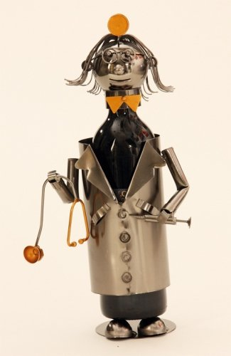 Flaschenhalter Wein Doktor Arzt Metall Flaschenständer Weinhalter Metallständer