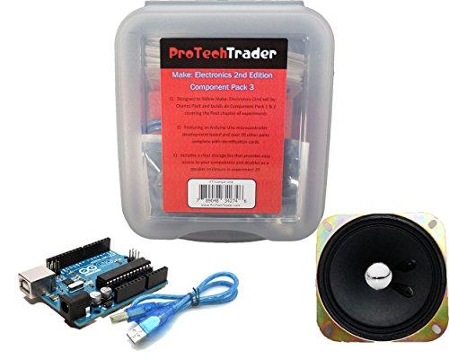 protechtrader machen: Elektronik 2nd Edition Component Pack 3, Electronic Kit mit Arduino Mikrocontroller für Anfänger