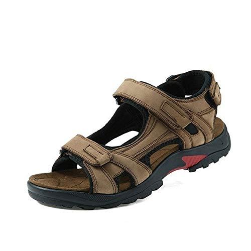 Sandali da Doccia per Uomo Antiscivolo Sandali Open Toe Casual da Uomo Sport Outdoor Hiking Scarpe da Arrampicata 2 Colori Comoda Scarpetta da Doccia (Color : Khaki, Size : 39 1/3 EU)