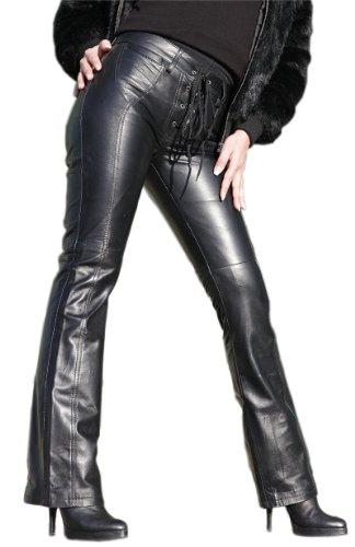Erogance Lederhose mit Schnürung aus echtem Leder Modell S53 in XL/18