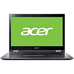 "Acer Spin 3 | SP314-51-58JC - Portátil táctil Convertible 14"" Full HD IPS (Intel Core i5-8250U, 8 GB de RAM, 128 GB SDD, Intel Graphics, Windows 10 Home) Plata - Teclado QWERTY Español"