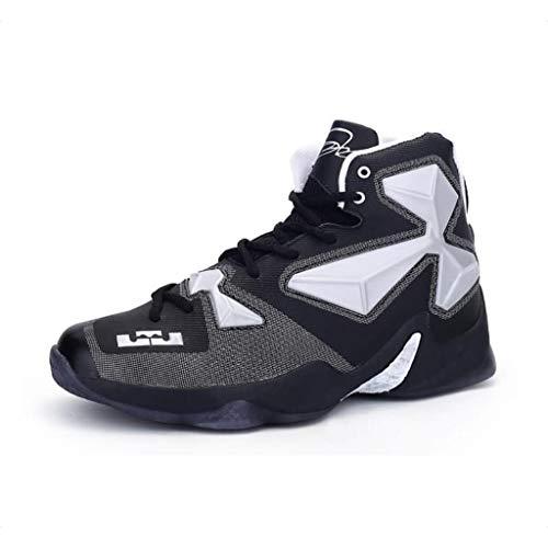 FEI Herrenschuhe, Frühjahr/Sommer/Herbst PU-Basketball-Schuhe, Komfort High-Top-Sneakers, Basket Ball Stiefel Trainer Turnschuhe, Laufschuhe