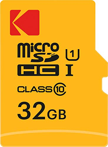 Kodak EKMSDM32GHC10K Premium 32GB microSDHC Speicherkarte, Highspeed, SD-Adapter UHS-I, U1, bis 85 MB/Sek. Sdhc Video