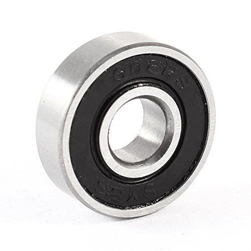 Sourcingmap 8 mm x 22 mm x 7 mm d'étanchéité en caoutchouc Deep Groove Radial Ball Bearing 608rs