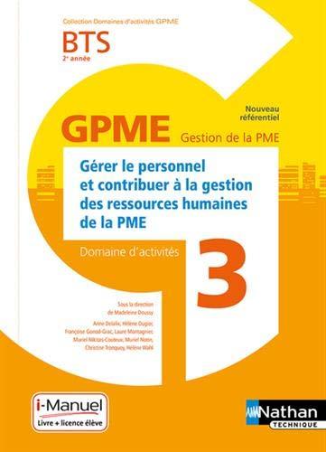 Domaine d'activité 3 - Gérer le personnel et contribuer à la gestion des ressources humaines de la PME - 2e année par Madeleine Doussy
