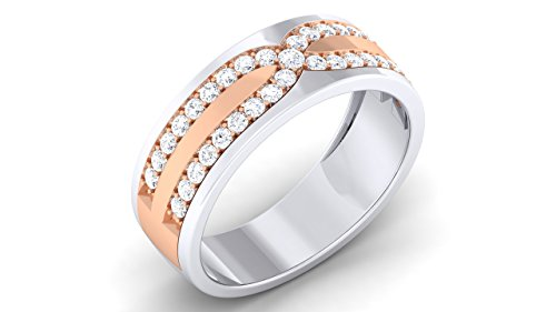 Naitik Jewels 92.5 Sterling Silver Beautiful Engagement & Wedding Band Ring For Men