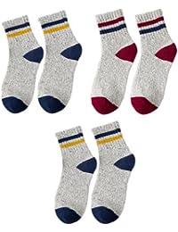 GRHY Otoño e Invierno con pequeños zapatos blancos Cintura de la Escuela Universitaria de lana, calcetines,uno tamaño 2 Azul 1 Rojo