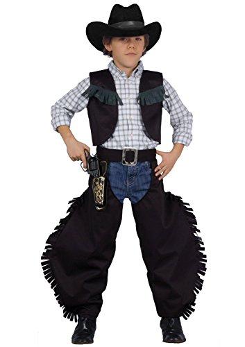 Fiori Paolo - Cowboy Pistolero Costume per Bambini, Nero, M (5-7 anni), 61221.M