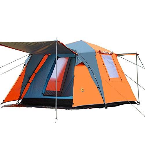 LULUVicky-Sports Camping Zelte 210T Silber Beschichtete Tuch Außen 3-4 Personen Automatische Zelt Camping Wandern Wasserdichtes Double Layer Canopy Sonnenschutz Familienzelt mit Aufbewahrungstasche