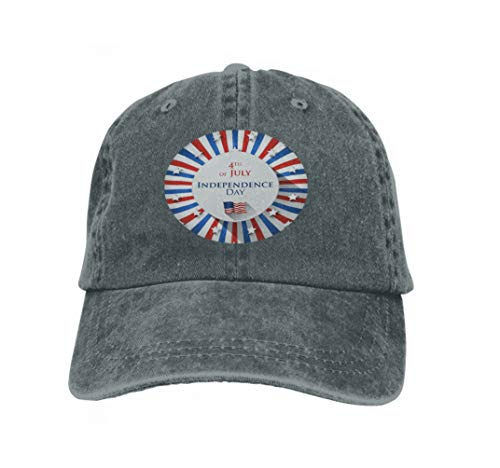 Unisex Flat Bill Hip Hop Cap Baseball Hat Head-Wear Cotton Trucker Hats 4th July Design greetin Card Star Background Flat Psychedeli Carbon Flat-panel-card