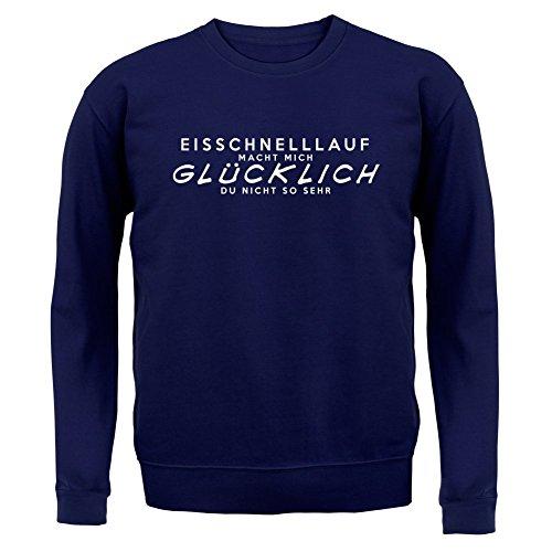 Eisschnelllauf macht mich glücklich - Unisex Pullover/Sweatshirt - 8 Farben Navy