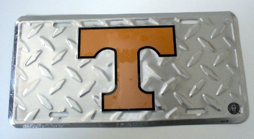University of Tennessee Diamond Cut NCAA Tin License Plate by Tromic Gifts